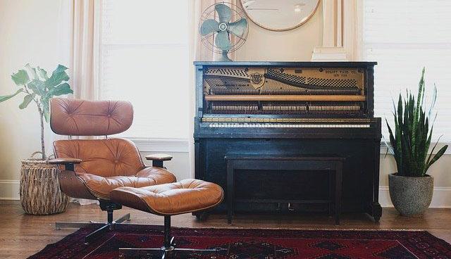 Das Klavier nach dem Umzug im neuen Zuhause.