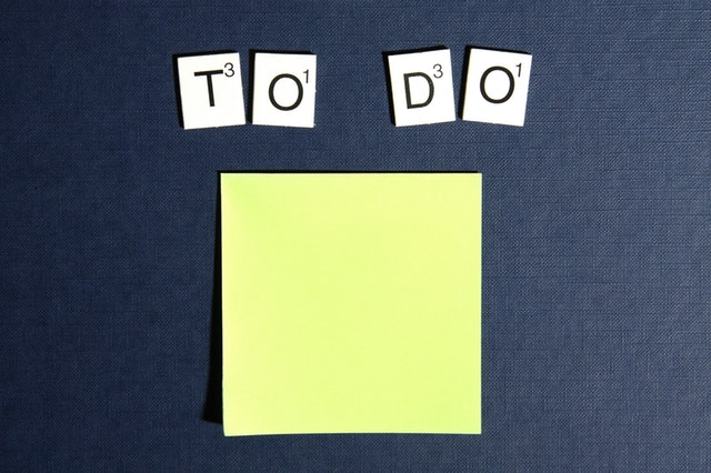 To-Do-Liste erstellen, um Umzug zu organisieren